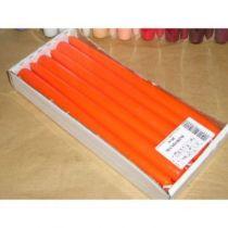 Bougies Flambeaux 25cm Mandarine x 12