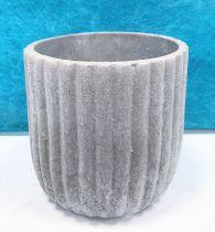 Cache Pot Ciment Rond D12 H12,5 Gris