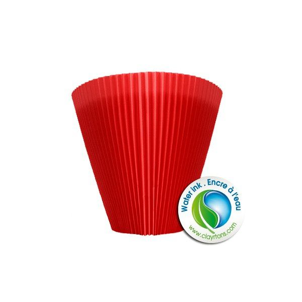 Cache-pot MANCHETTE 10cm Rouge