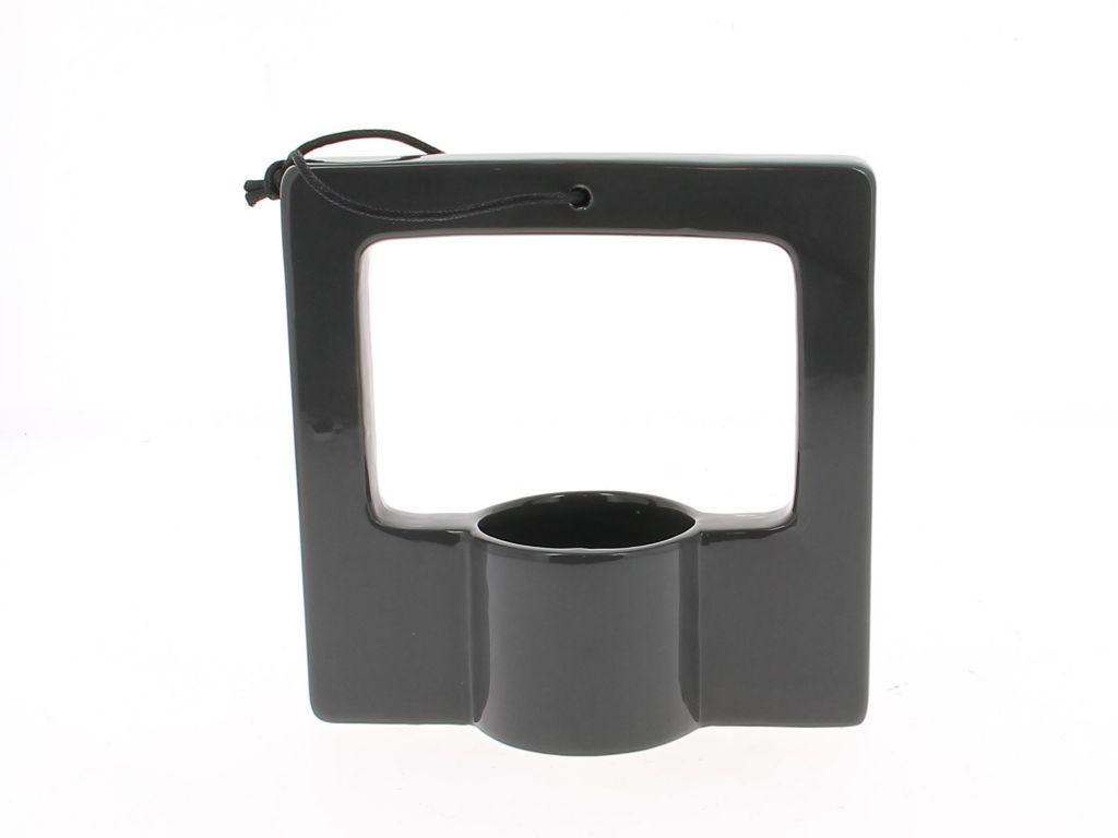 Cadre Céramique 17x7 H17 avec Pot Rond Gris