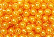 Epingle tête Perle 10mm Orange x 250