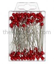 Epingle Tête Perle 6mm Rouge x 100