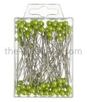Epingle Tête Perle 6mm Vert Pomme x 100