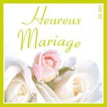 """Etiquette de Voeux \""""Heureux Mariage\"""""""