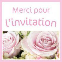 """Etiquette de voeux \""""Merci pour l\'invitation\"""""""