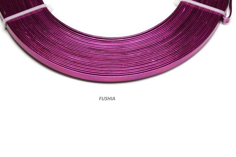 192820-Fil Alu plat 1mmx5mmx10m Fushia