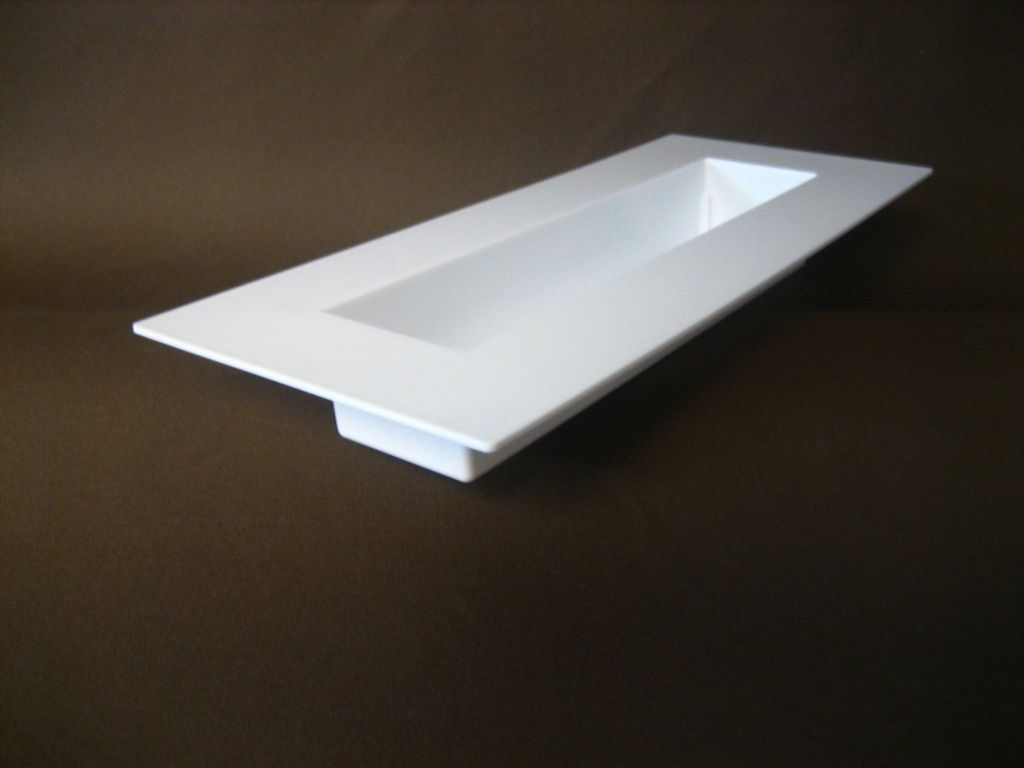 Jardini re rectangle 39x16 3x4 8 blanc - Jardiniere pvc blanc ...