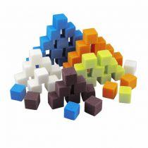 Mousse Mini-Cubes 2cm Arlequin