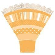 Poche à bouquets CUP CAKE Orange
