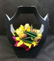 Porte-bouquet Noir avec compo