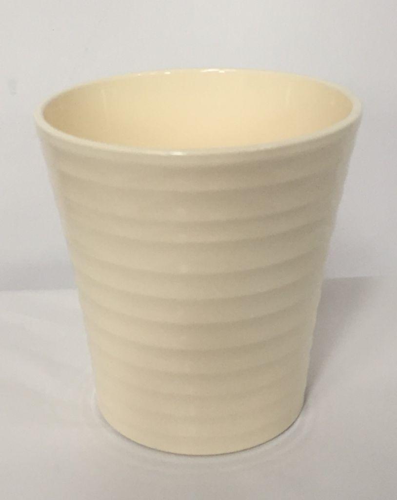 Pot Orchidée STRIE ø 12.5cm Crème