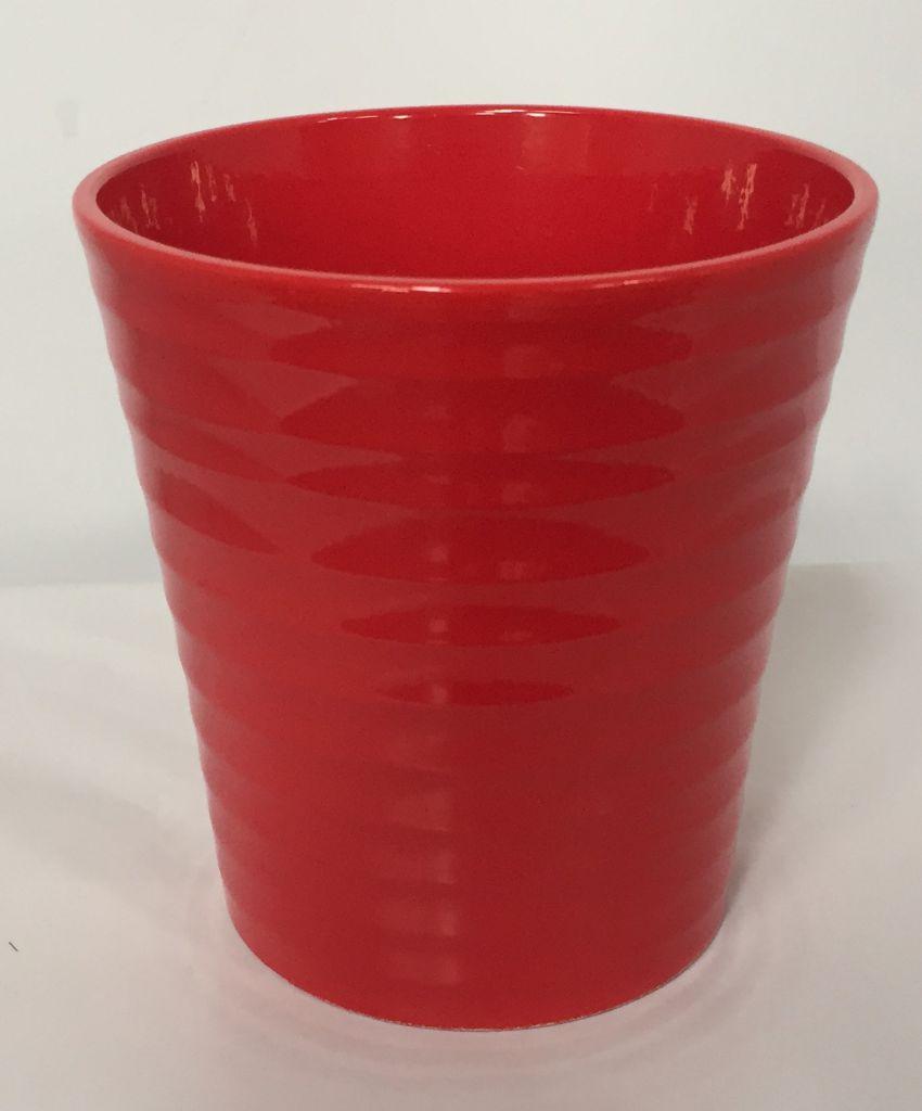 Pot Orchidée STRIE ø 12.5cm Rouge