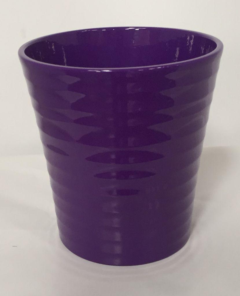 Pot Orchidée STRIE ø 12.5cm Violet