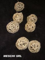 Rattan Ball D4 cm Naturel x 20