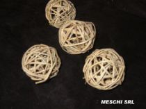 Rattan Ball D6 cm Naturel x 12