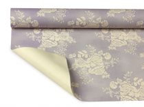Rouleau Bulle Vintage Ivory Roses 0,80x40m Lilas