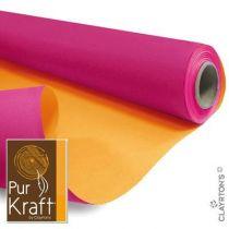 Rouleau Duo Kraft 0,79x40m Fushia/Orange