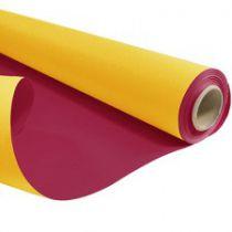 Rouleau Duo Kraft 0,79x40m Jaune/Rouge