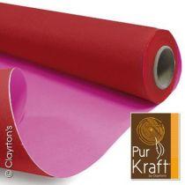 Rouleau Duo Kraft 0,79x40m Rouge/Fushia