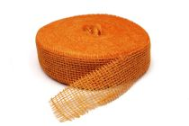 Ruban Jute 50mm x 40m Orange