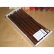 Bougies Flambeaux 25cm Chocolat x 12