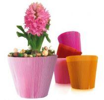 Cache-pot MANCHETTE Classic avec fleurs
