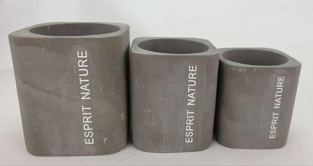 """Cache Pot \""""Esprit Nature\"""" D8 H11 Gris"""