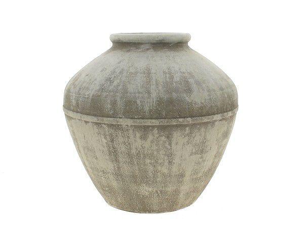 Cache Pot Céramique D35 H35 Gris