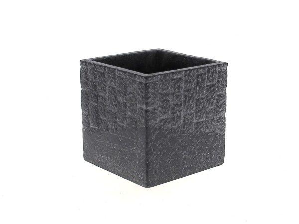 Cache Pot Ciment 10x10 H10 Noir