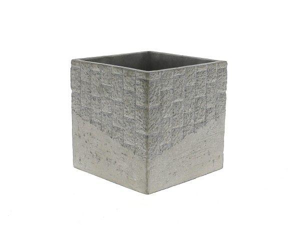 Cache Pot Ciment 13x13 H15 Taupe