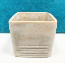 Cache Pot Ciment Carré 12x12 H11,5 Gris