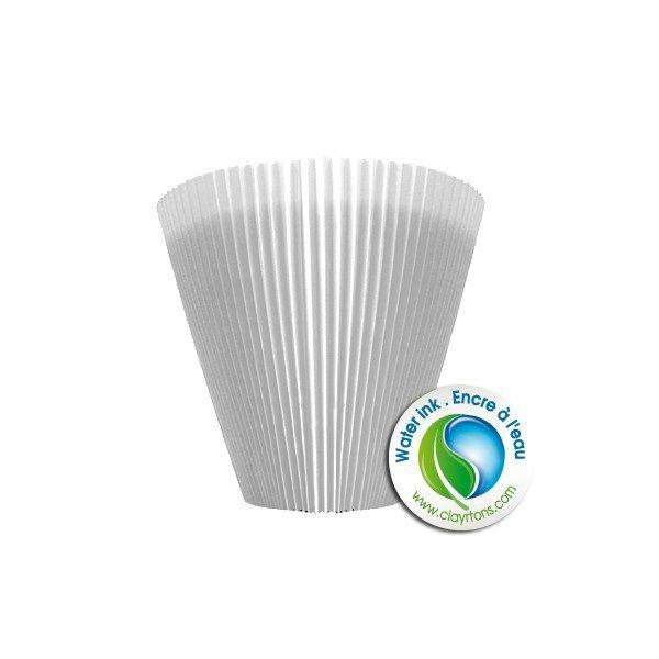 Cache-pot MANCHETTE 10cm Blanc