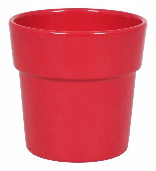 Cache Pot Orchidée Rim D12,5 H12,5 Rouge
