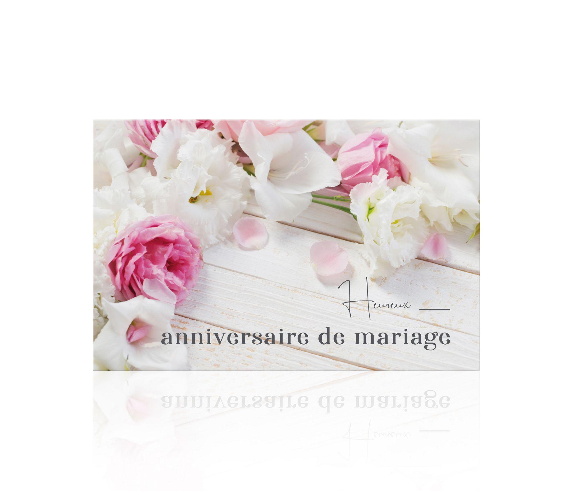Carte Romantico Heureux Anniversaire De Mariage X 10