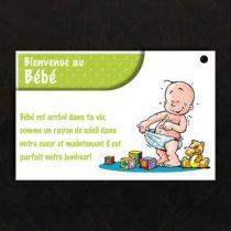 """Cartes de voeux RISA \""""Bienvenue au bébé\"""""""