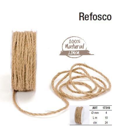 Corde Refesco 4mm x 10m Naturel