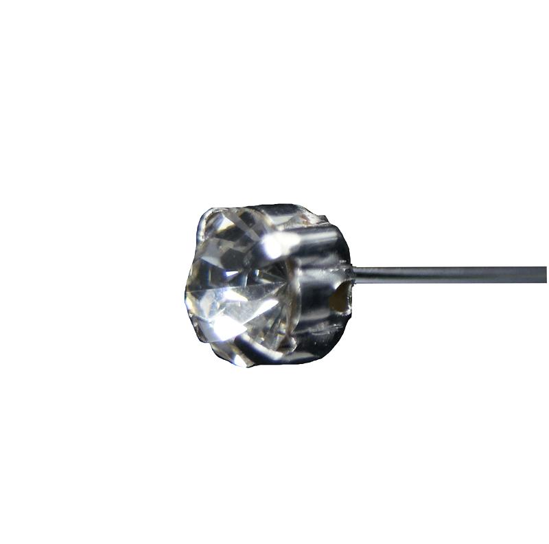 Epingle Tête Diamant 5mm ( x 12 )