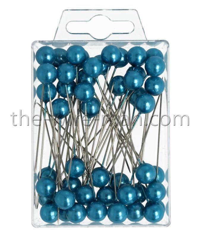 Epingle Tête Perle 10mm Turquoise x 50