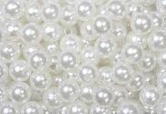 Epingle Tête Perle 6mm Blanc