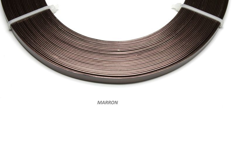 192804-Fil Alu plat 1mmx5mmx10m Marron