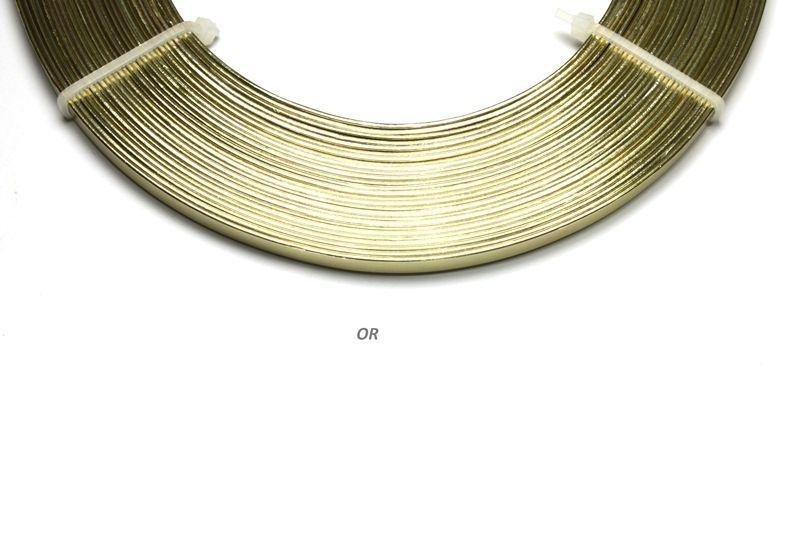 192809-Fil Alu plat 1mmx5mmx10m Or