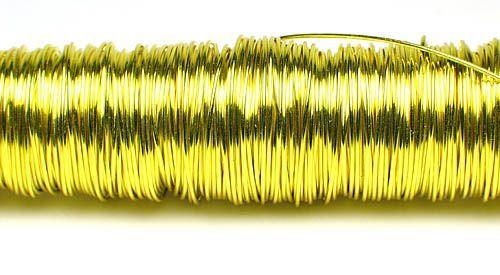 133008-Fil deco laque 0.50mm-Jaune