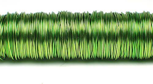 133001-Fil deco laque 0.50mm- Vert pomme