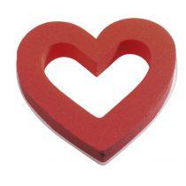 Mousse Coeur Ouvert D18 Rouge