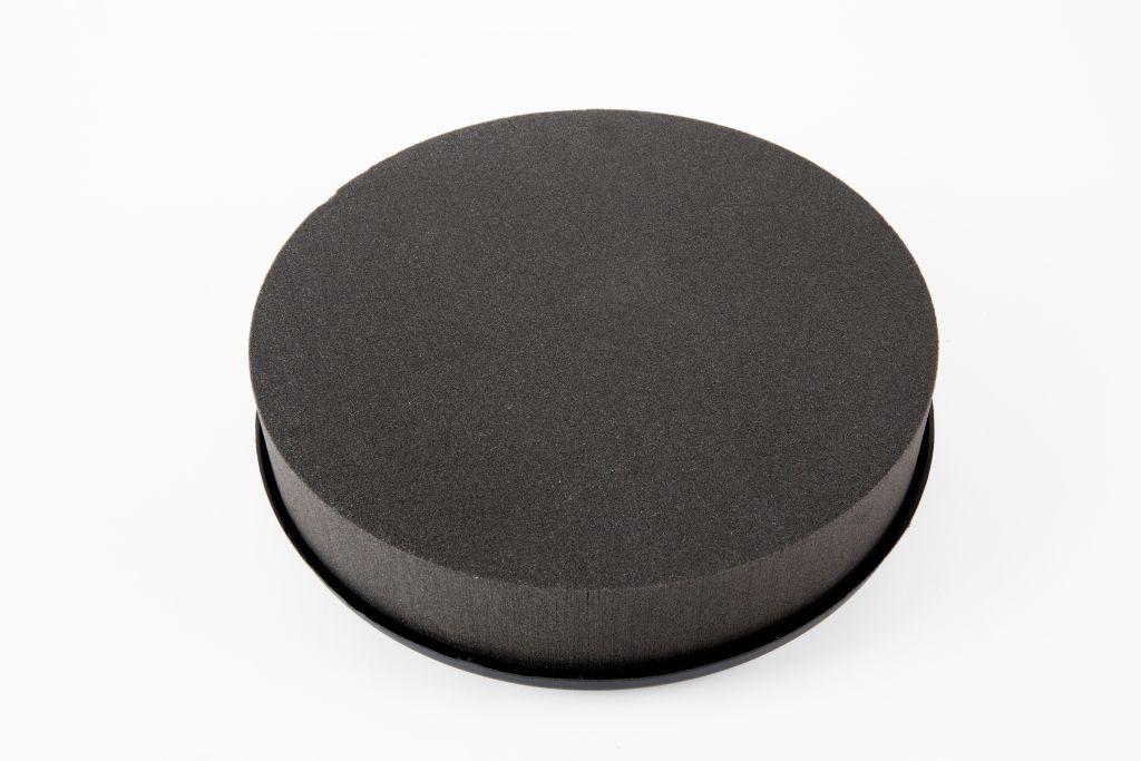 Mousse Coussin Rond Eychenne All Black 22 cm Noire x 2