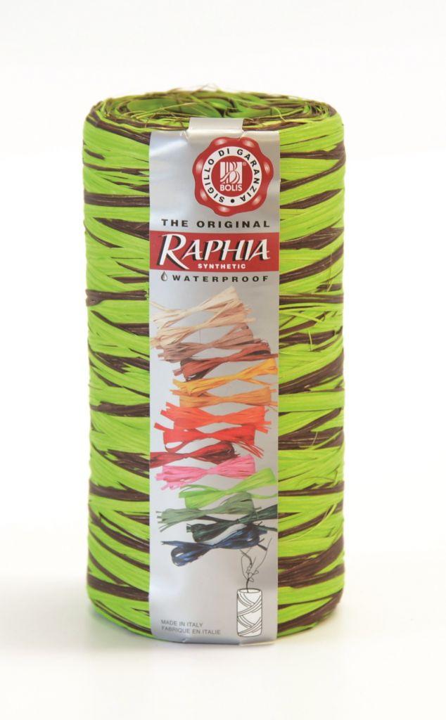 Raphia Vert-Chocolat