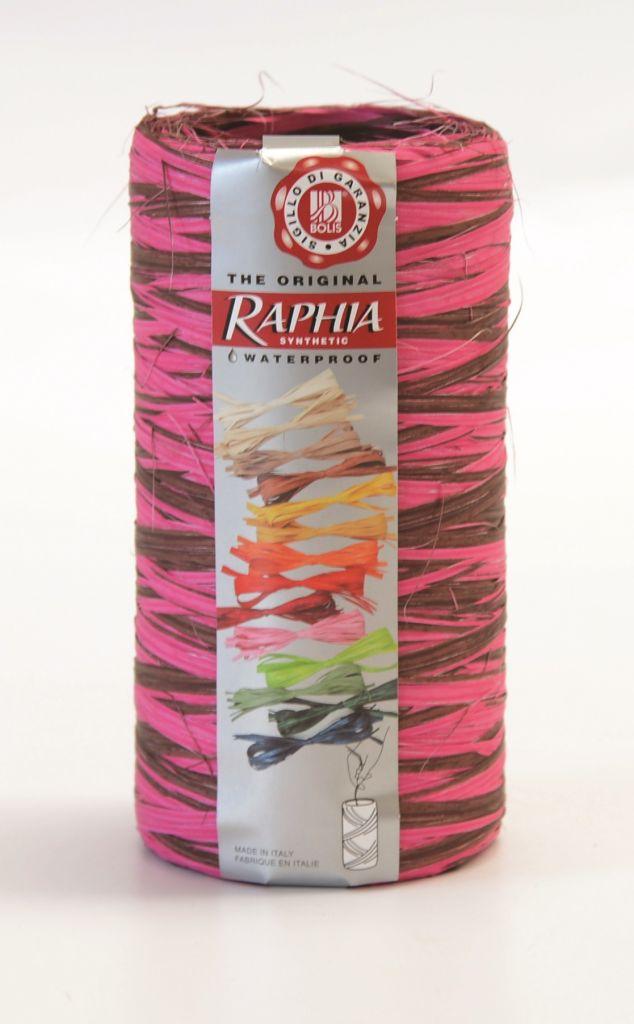 Raphia Fushia-Chocolat