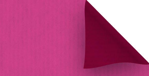 Rouleau KRAFT Recto-Verso 80 cm Rose/Framboise