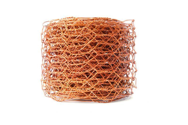 Ruban GRILLAGE à maillles hexagonales 5cm x 5m - Orange