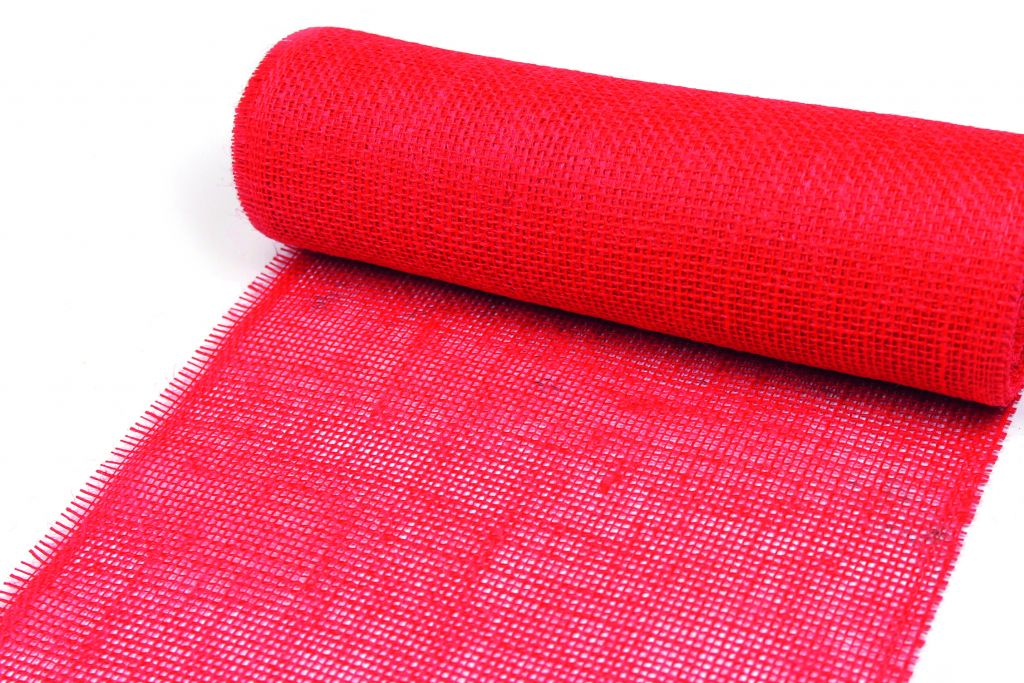 Ruban Jute 50mm x 40m Rouge